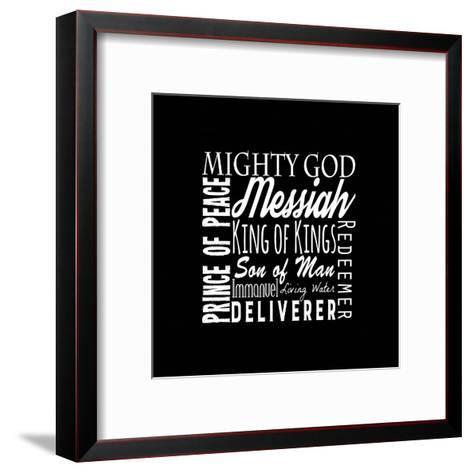 Names of Jesus Square White Text-Inspire Me-Framed Art Print