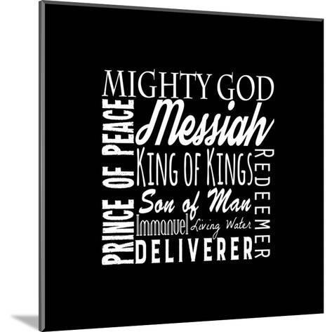Names of Jesus Square White Text-Inspire Me-Mounted Art Print