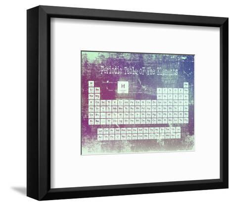 Periodic Table Purple Grunge Background-Color Me Happy-Framed Art Print
