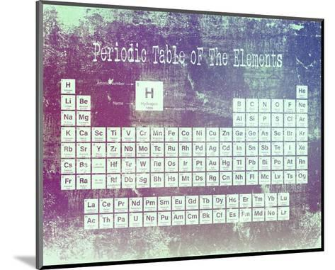 Periodic Table Purple Grunge Background-Color Me Happy-Mounted Art Print