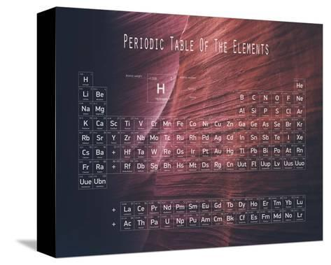Periodic Table Canyon Wall-Color Me Happy-Stretched Canvas Print