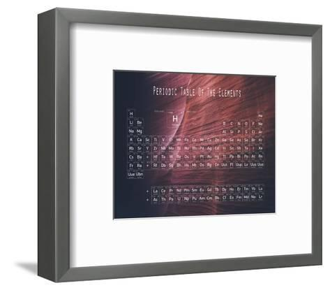 Periodic Table Canyon Wall-Color Me Happy-Framed Art Print