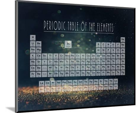 Periodic Table Gold Dust - Blue-Color Me Happy-Mounted Art Print