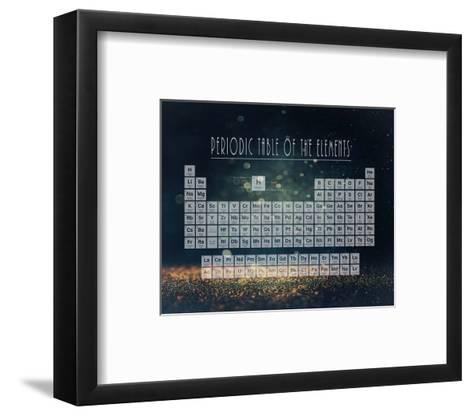 Periodic Table Gold Dust - Blue-Color Me Happy-Framed Art Print
