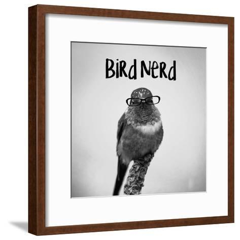 Bird Nerd - Hummingbird-Color Me Happy-Framed Art Print