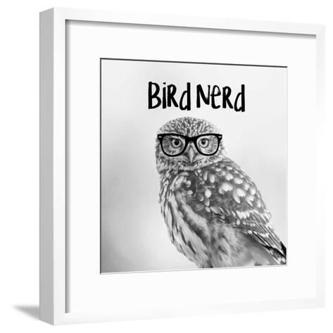 Bird Nerd - Owl-Color Me Happy-Framed Art Print