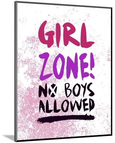 Girl Zone-Grunge-Color Me Happy-Mounted Art Print
