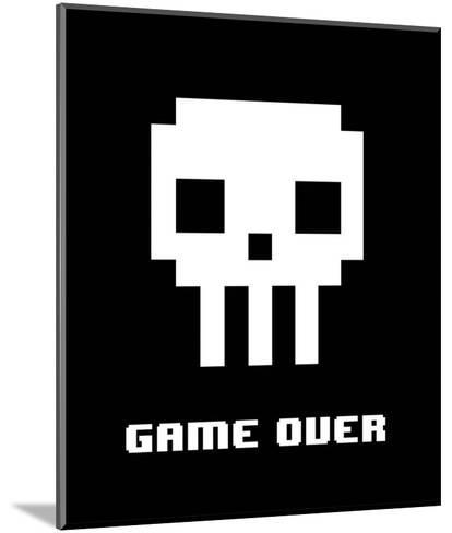 Game Over - White Skull-Color Me Happy-Mounted Art Print