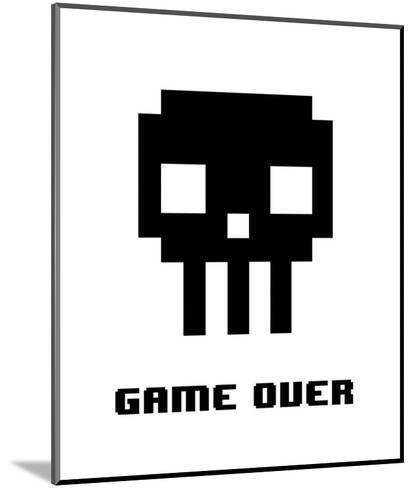 Game Over - Black Skull-Color Me Happy-Mounted Art Print