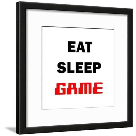 Eat Sleep Game - White-Color Me Happy-Framed Art Print