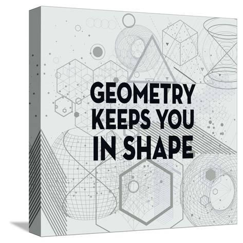 Geometry Keeps You In Shape Light Pattern-Color Me Happy-Stretched Canvas Print