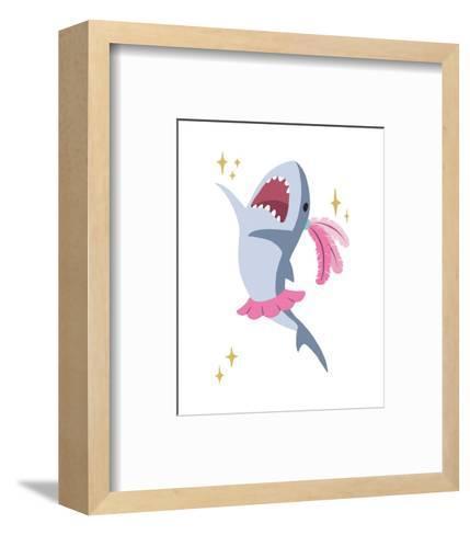 Wash Brush Floss Flush Shark Pink Part III-Color Me Happy-Framed Art Print