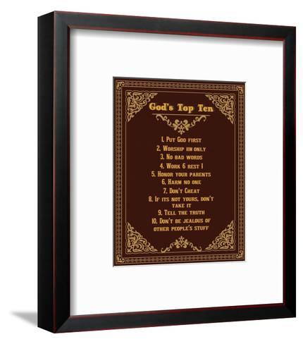 God's Top Ten Brown and Gold Design-Inspire Me-Framed Art Print