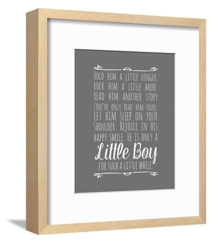 Hold Him A Little Longer - Gray-Color Me Happy-Framed Art Print