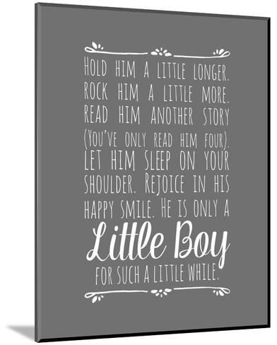 Hold Him A Little Longer - Gray-Color Me Happy-Mounted Art Print