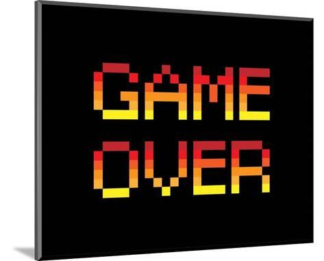 Game Over - Red-Color Me Happy-Mounted Art Print
