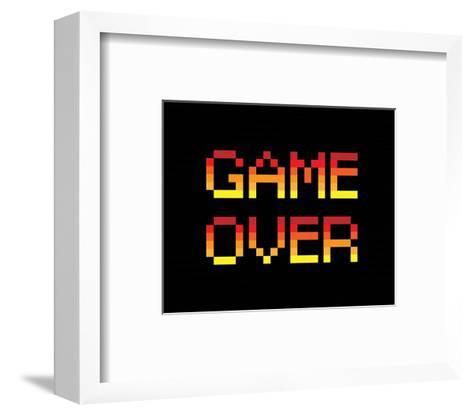 Game Over - Red-Color Me Happy-Framed Art Print