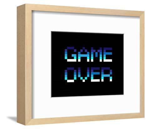 Game Over - Blue-Color Me Happy-Framed Art Print