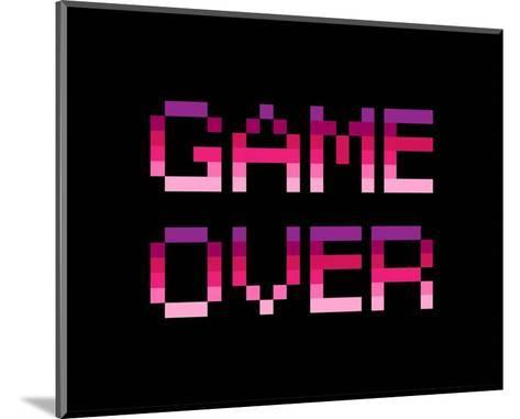 Game Over - Purple-Color Me Happy-Mounted Art Print