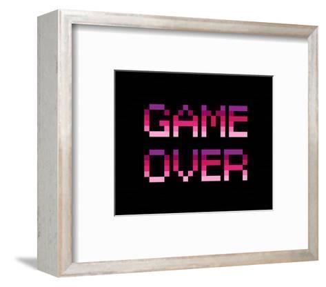 Game Over - Purple-Color Me Happy-Framed Art Print