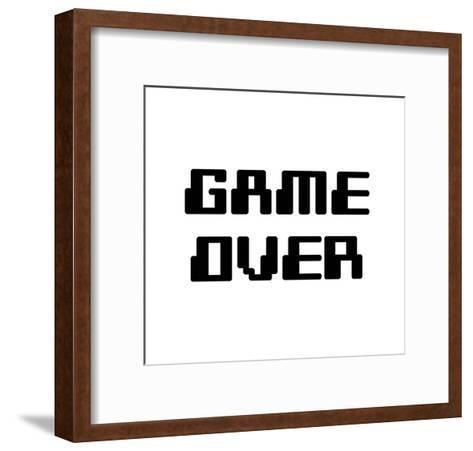 Game Over - White-Color Me Happy-Framed Art Print