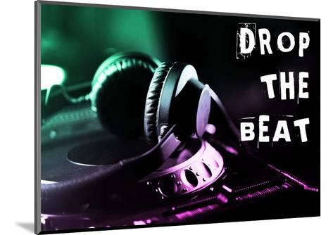 Drop The Beat - Green and Pink-Color Me Happy-Mounted Art Print