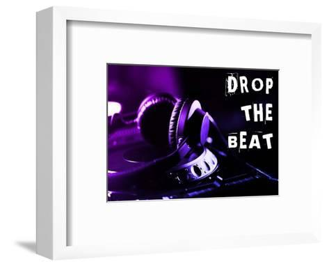 Drop The Beat - Purple and Blue-Color Me Happy-Framed Art Print