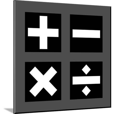 Math Symbols Square - Black-Color Me Happy-Mounted Art Print