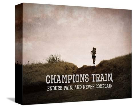 Champions Train Woman Color-Sports Mania-Stretched Canvas Print