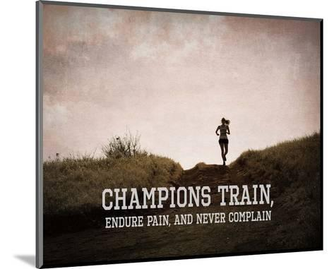 Champions Train Woman Color-Sports Mania-Mounted Art Print