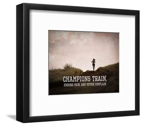Champions Train Woman Color-Sports Mania-Framed Art Print