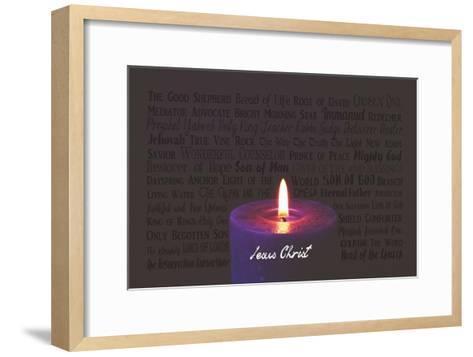 Names of Jesus Purple Candle-Inspire Me-Framed Art Print
