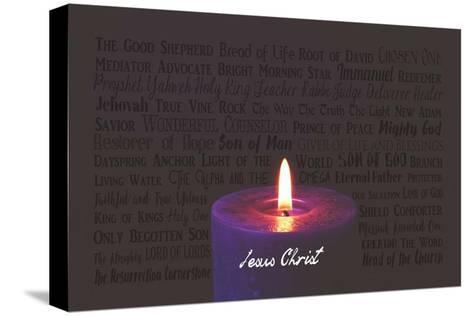 Names of Jesus Purple Candle-Inspire Me-Stretched Canvas Print