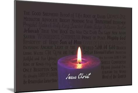 Names of Jesus Purple Candle-Inspire Me-Mounted Art Print