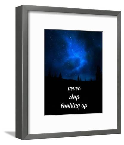 Never Stop Looking Up-Color Me Happy-Framed Art Print