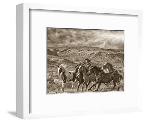 Katy Rides Again-Barry Hart-Framed Art Print