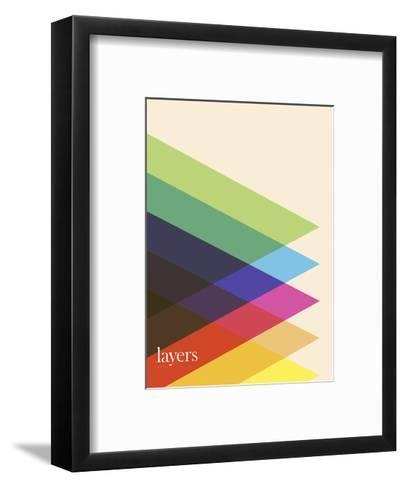 Layers-Simon C^ Page-Framed Art Print