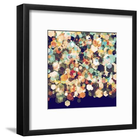 Cuben Cubic Spine-Simon C^ Page-Framed Art Print