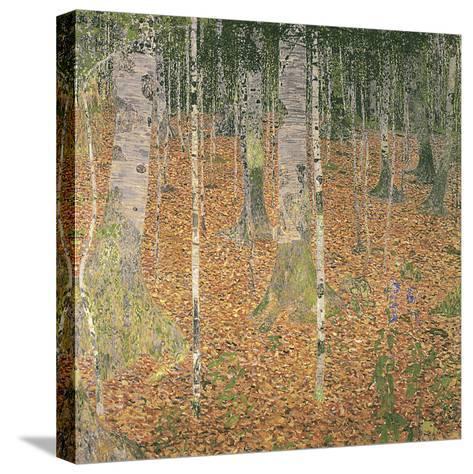 The Birch Wood-Gustav Klimt-Stretched Canvas Print