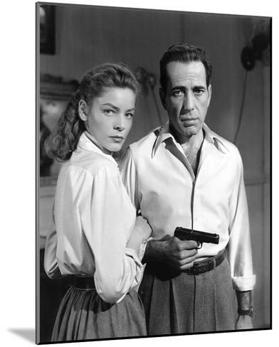 Lauren Bacall and Humphrey Bogart in 'Key Largo' 1948-Hollywood Historic Photos-Mounted Art Print