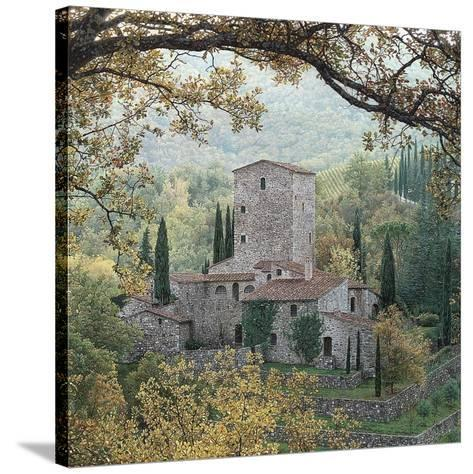 Hills of Chianti-Rod Chase-Stretched Canvas Print