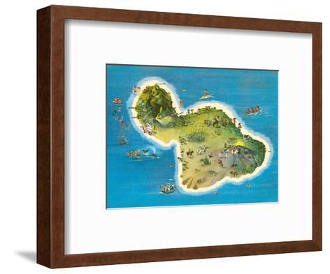 The Island of Maui Hawaii-Ray Lanterman-Framed Art Print