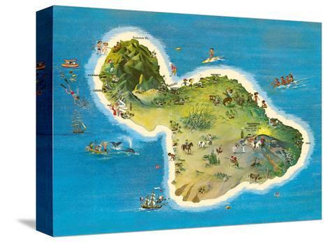 The Island of Maui Hawaii-Ray Lanterman-Stretched Canvas Print