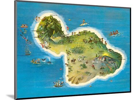 The Island of Maui Hawaii-Ray Lanterman-Mounted Art Print