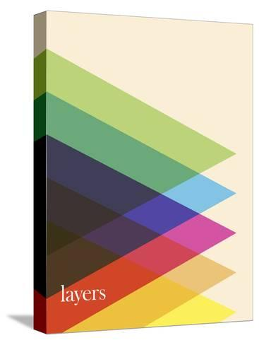 Layers-Simon C^ Page-Stretched Canvas Print