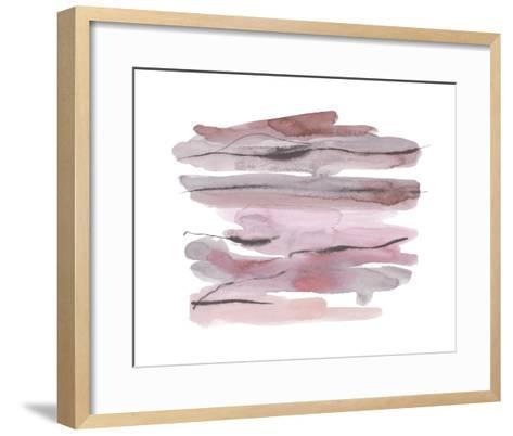 Modern Slate - Blush-Kim Johnson-Framed Art Print
