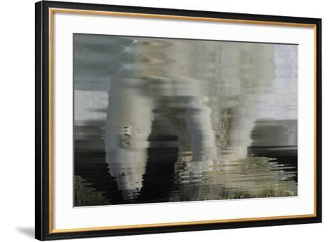Polar Bear Reflection-Staffan Widstrand-Framed Art Print