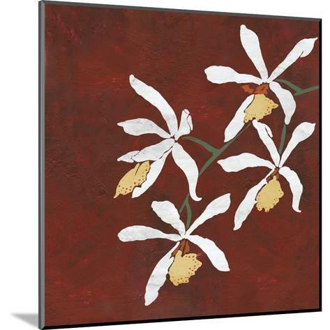 Collection Rouge - Floral-Linda Wood-Mounted Giclee Print