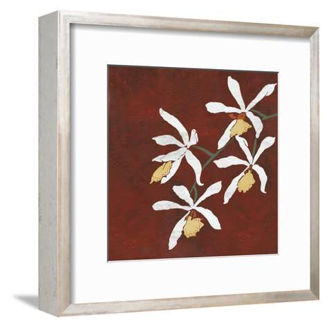Collection Rouge - Floral-Linda Wood-Framed Art Print