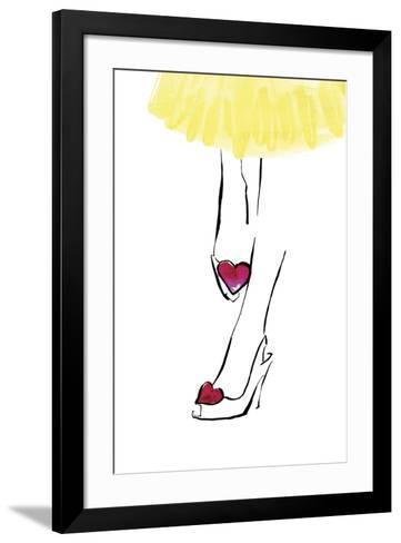 Heart Shoes-Johanna Fernihough-Framed Art Print